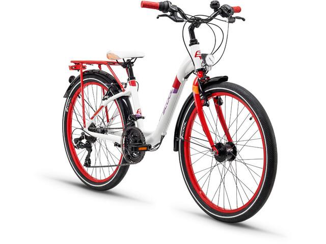 s'cool chiX 24 21-S Børnecykel alloy rød/hvid (2019)   City-cykler